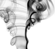 Abstract Smoke. Shape background. black smoke on white background Royalty Free Stock Photo
