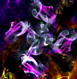 Abstract smoke. Abstract color smoke as flames Stock Photos