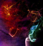 Abstract smoke. S of red orange and blue Royalty Free Stock Photos