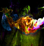 Abstract smoke. Vivid color backround Royalty Free Stock Photography