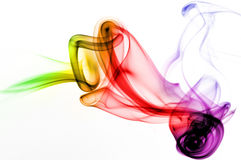 Abstract Smoke. Image of colored incense smoke Stock Image