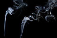 Abstract Smoke. Two streams of abstract smoke trail, shapes and form Stock Photos