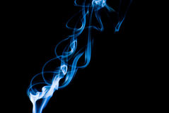 Abstract Smoke. A shot of some Smoke on back backgorund Stock Image