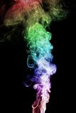 Abstract smoke. Isolated on the black background Royalty Free Stock Photography