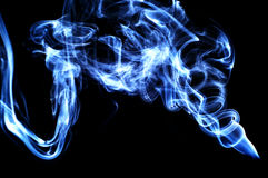 Abstract smoke. Blue Royalty Free Stock Photography