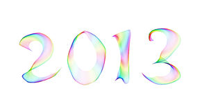 2013 in abstract smoke Stock Images