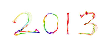 2013 in abstract smoke Royalty Free Stock Images