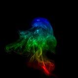 Abstract smoke on black Stock Photography