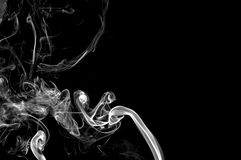 Abstract Smoke On Black Background. Royalty Free Stock Image
