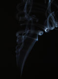 Abstract smoke on black Royalty Free Stock Image