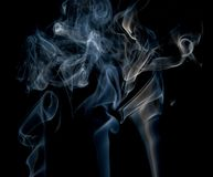Abstract smoke on black background royalty free stock photos
