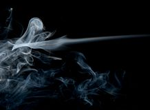 Abstract smoke on blackbackground royalty free stock image