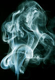 Abstract smoke on black background Royalty Free Stock Image