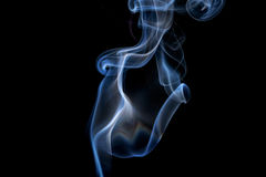 Abstract smoke on a black background. Stock Photo