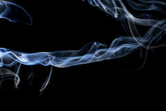 Abstract smoke on a black background. Stock Photography