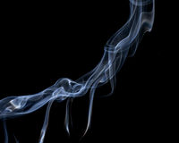 Abstract smoke on a black background. Royalty Free Stock Image
