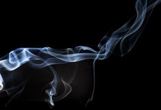 Abstract smoke on a black background. Royalty Free Stock Photography