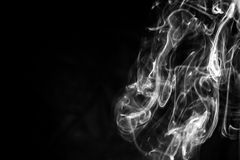 Abstract Smoke On A Black Background Royalty Free Stock Photography
