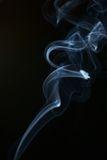Abstract smoke. Blue smoke isolated on  black background Royalty Free Stock Image