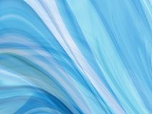 Abstract smoke curl lines. Abstract blue fractal smoke curl lines Stock Photography