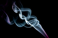 ABSTRACT SMOKE CURVES Stock Photo