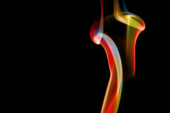 Abstract smoke curves Royalty Free Stock Photos
