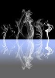 Abstract smoke dark background Royalty Free Stock Photo