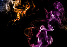 Abstract smoke on dark background Stock Photography