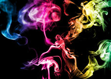 Abstract smoke on dark background Stock Photos