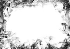 Abstract smoke frame on white background Stock Images