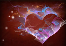 Abstract Smoke Heart Royalty Free Stock Photography