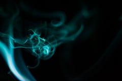 Abstract smoke isolated on black Stock Image
