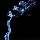 Abstract smoke isolated on black background Stock Photos