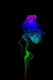 Abstract smoke isolated on black Stock Image