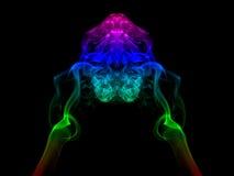 Abstract smoke isolated on black Stock Photography