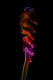 Abstract smoke isolated on black Stock Photo