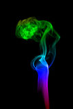 Abstract smoke isolated on black Royalty Free Stock Photos