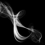 Abstract smoke isolated on black. Background Stock Photos