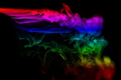 Abstract smoke isolated on black background,Rainbow powder. Abstract smoke isolated on black background ,Rainbow powder vector illustration