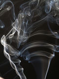 Abstract smoke isolated on black Royalty Free Stock Photography