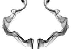 Abstract smoke isolated on white Royalty Free Stock Images