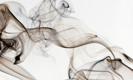 Abstract smoke isolated on white Stock Images