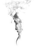 Abstract Smoke . The men face. Abstract Smoke isolated on a white background Royalty Free Stock Image