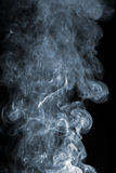 Abstract smoke over black Stock Photo