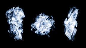 Abstract smoke set on black stock image
