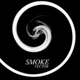 Abstract smoke by spiral isolated. On black background. Vector Royalty Free Stock Photos