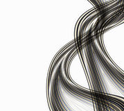 Abstract Smoke Waves. Abstract illustration design of black and gold lines like cables or wires or smoke trails  isolated on white copyspace good for technology Stock Photography