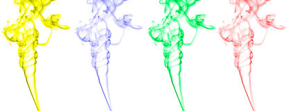 Abstract Smoke Waves Stock Photo