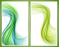 Abstract smoke wavy banners. Stock Images