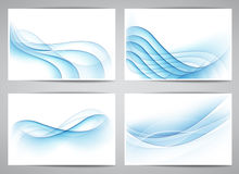 Abstract smoke wavy banners. Vector set of abstract smoke blue banners. Eps10 Royalty Free Stock Photography
